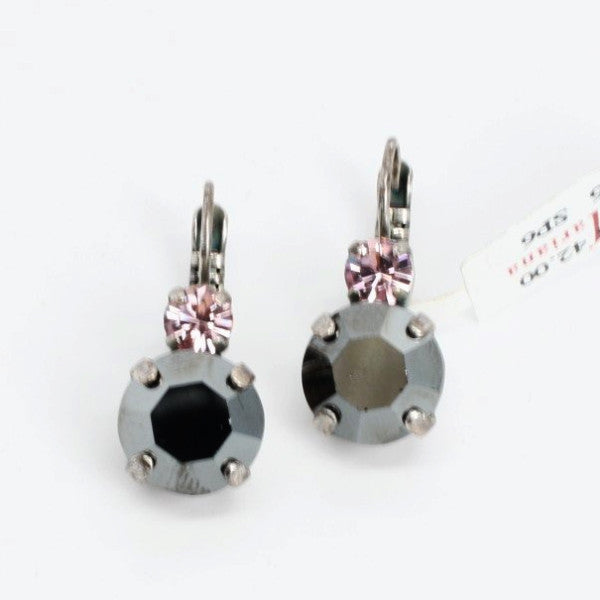 Silver Moon Collection Large Double Crystal Earrings