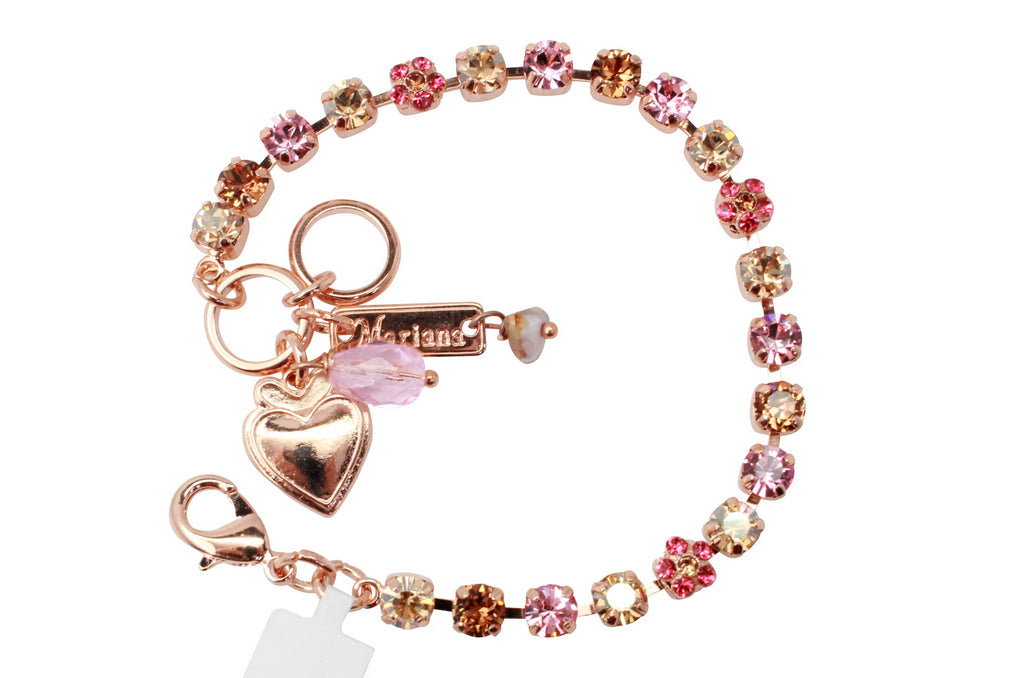 Gingerbread Collection Petite Flower Bracelet in Rose Gold