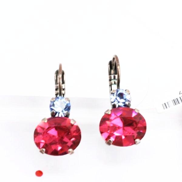 Joy Collection Oval Double Crystal Earrings