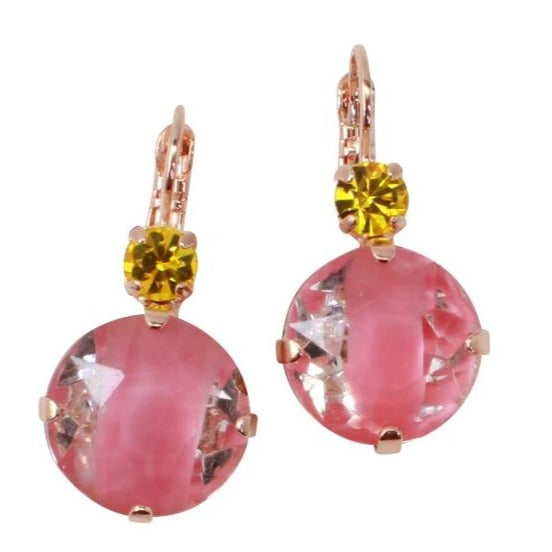 Lantana Collection 15MM Crystal Earrings in Rose Gold