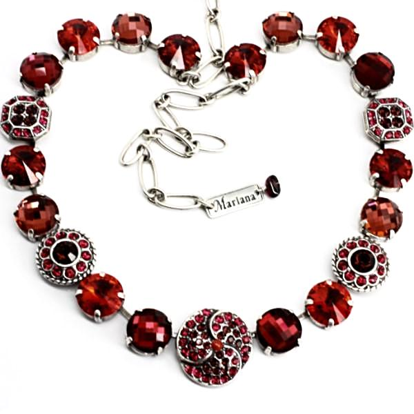 Lady in Red Rivoli Crystal Necklace