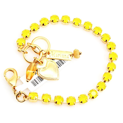 Yellow Opal Petite Crystal Bracelet in Yellow Gold