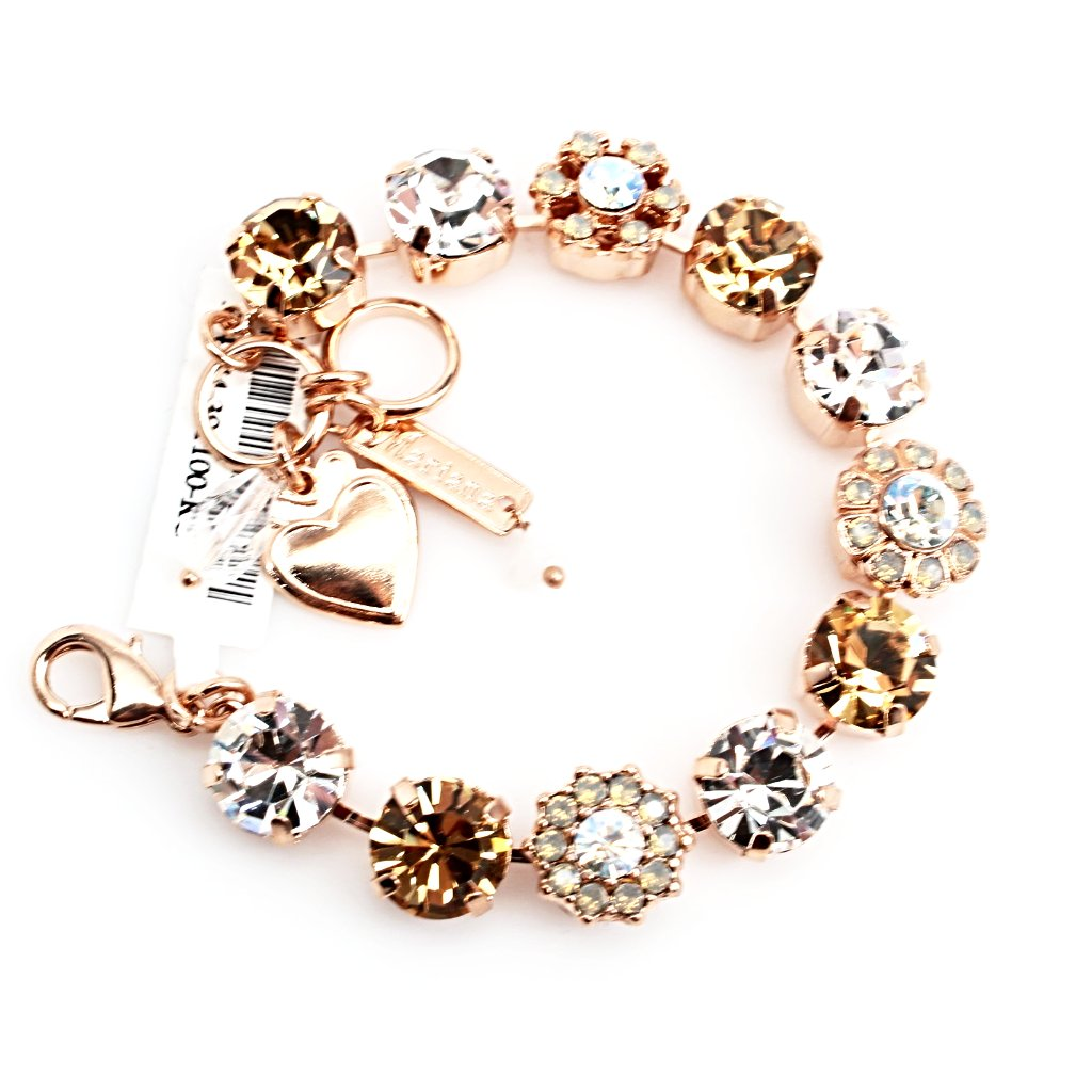 Champagne and Caviar Collection Crystal Bracelet in Rose Gold
