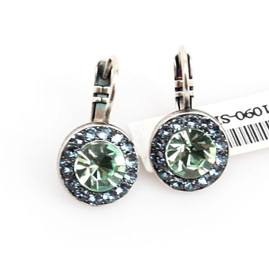 Gaea Round Crystal Earrings