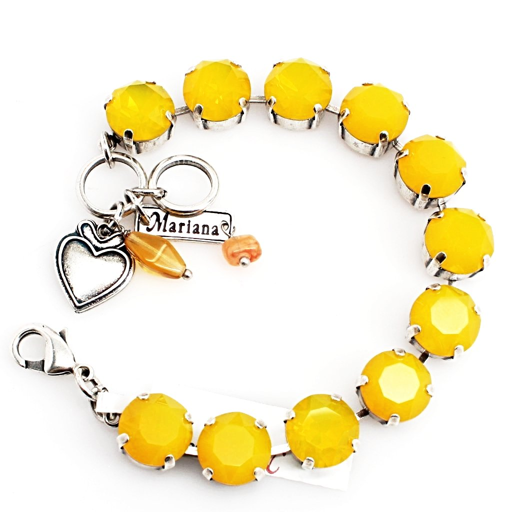 Yellow Opal Large Crystal Bracelet