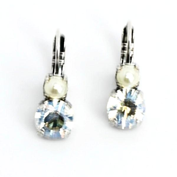 Champagne and Caviar Medium Double Crystal Earrings