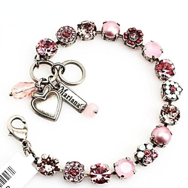 Antigua Collection Heart Crystal Bracelet