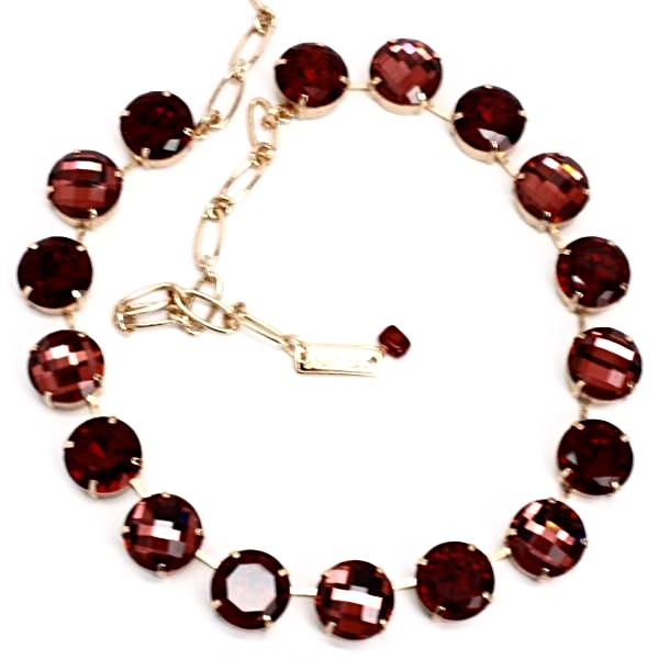 Lady in Red Extra Large Crystal Necklace in Rose Gold