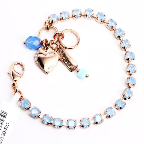 Air Blue Petite Crystal Bracelet in Rose Gold