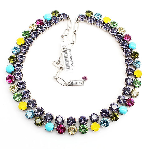 Cuba Double Strand Crystal Necklace