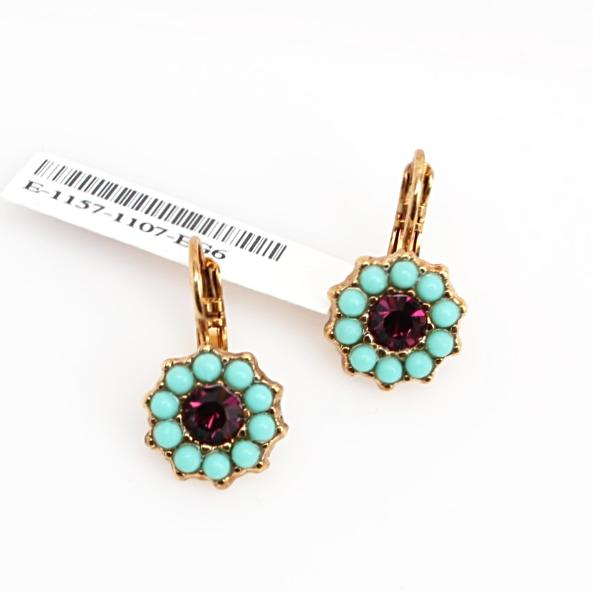 St. Lucia Collection Crystal Earrings in English Gold