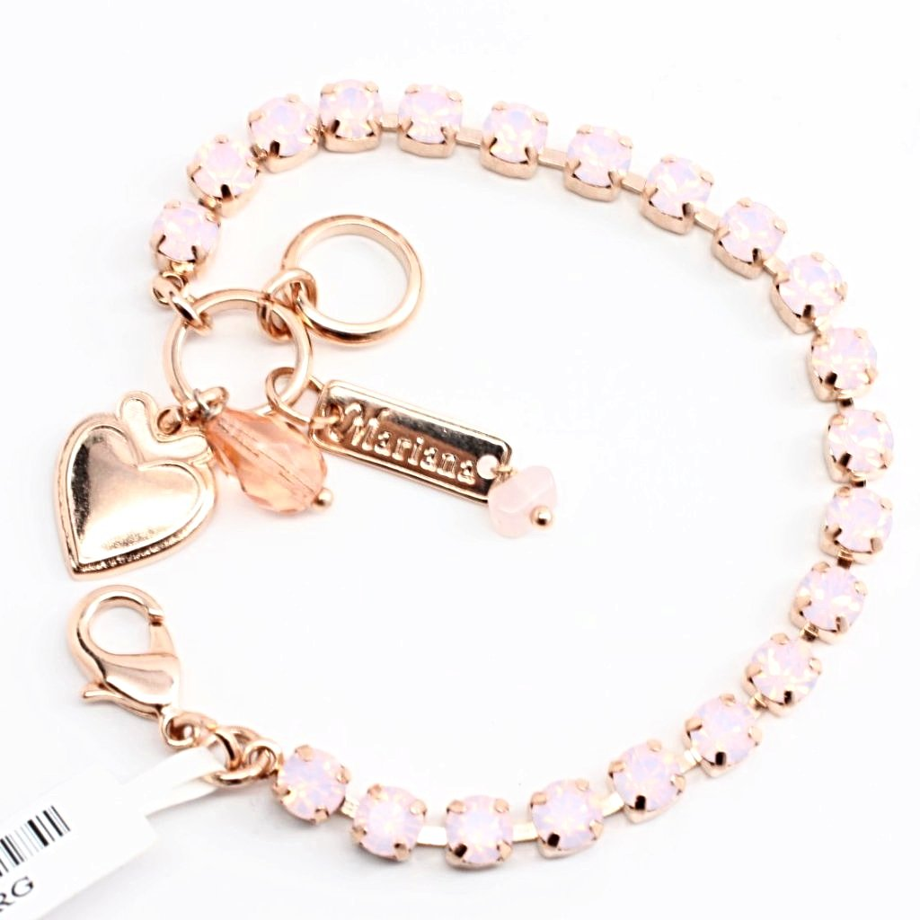Rosewater Opal Petite Crystal Bracelet in Rose Gold