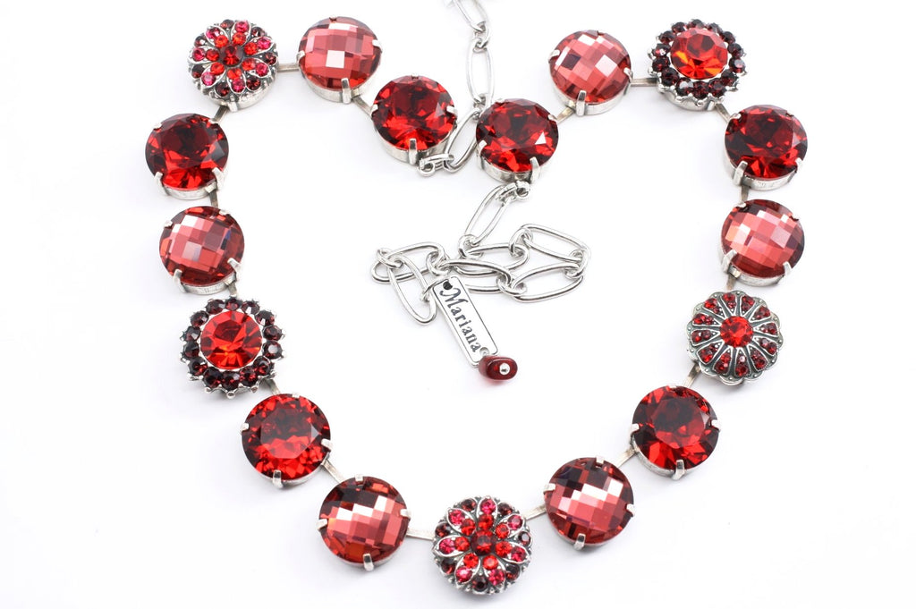 Lady in Red Gorgeous Extra Large Crystal Necklace