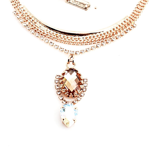 Barbados Collection Pendant Necklace with Gorgeous Rose Gold Chain