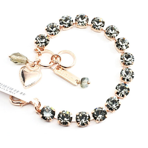 Black Diamond Medium Crystal Bracelet in Rose Gold