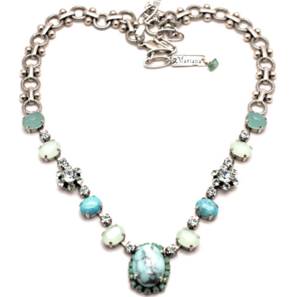 Mojito Large Crystal Center Necklace