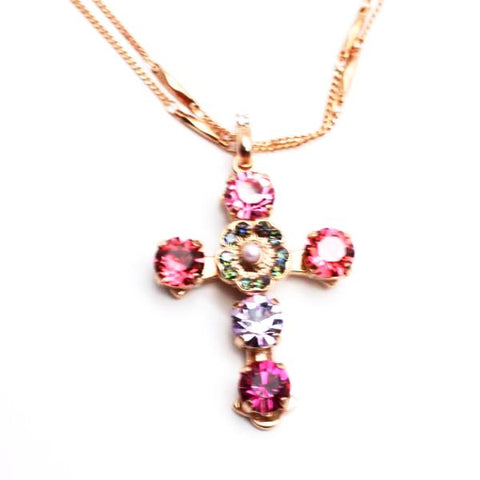 Joy Collection Mariana Double Chain Cross Necklace in Rose Gold **PRE-ORDER**