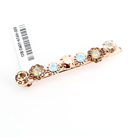 Rhapsode Collection Crystal Barrette in Rose Gold