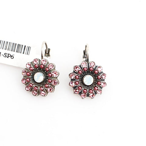 Antigua Collection Crystal Flower Earrings