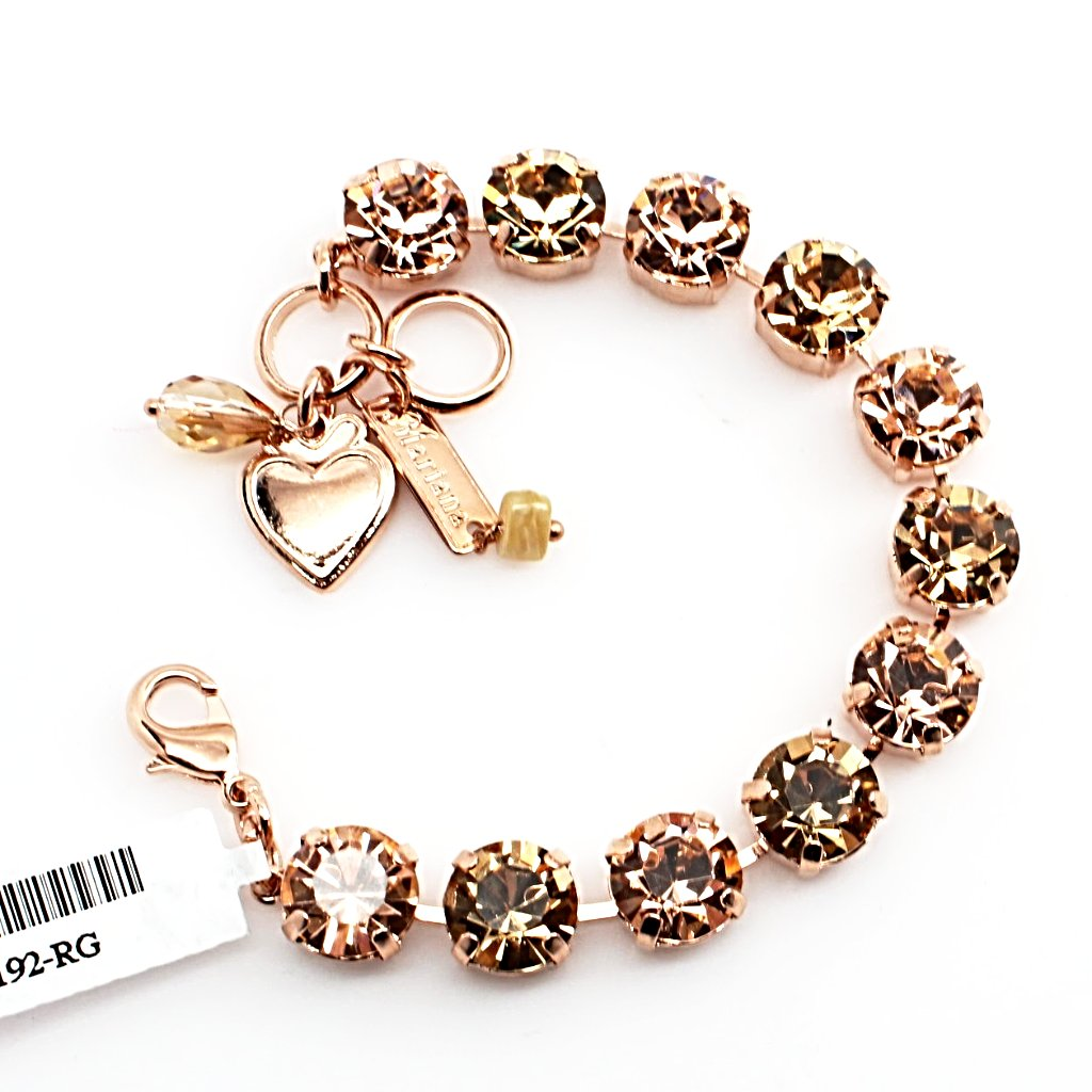 Golden Tulips Large Crystal Bracelet in Rose Gold