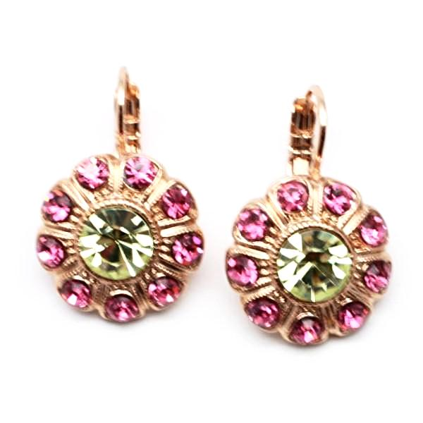 Margarita Collection Flower Crystal Earrings