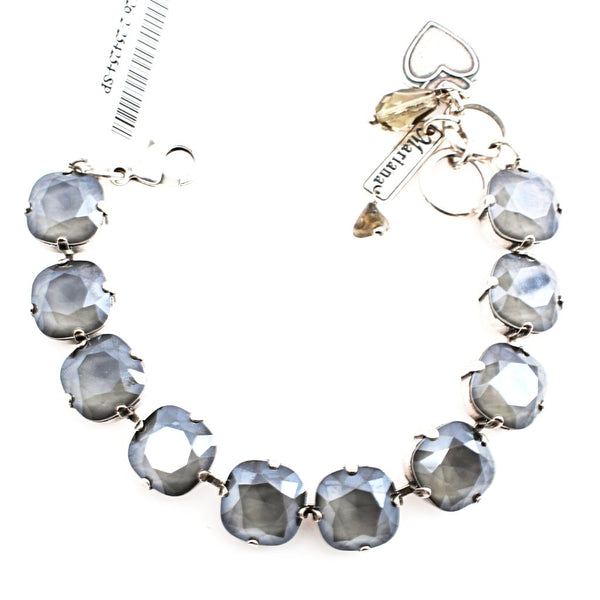 Gray 12MM Square Crystal Bracelet