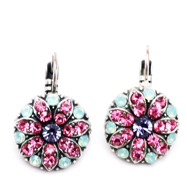 Flower Power Ornate Crystal Earrings