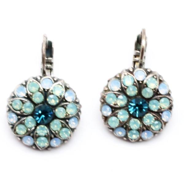 Pacific Opal and Blue Crystal Earrings