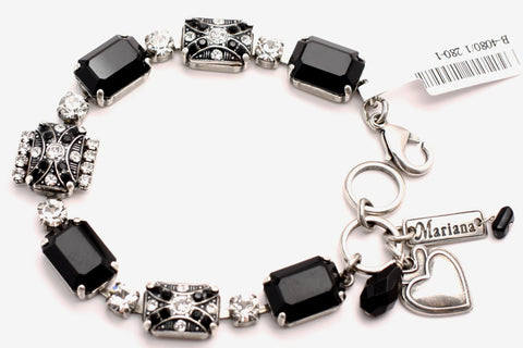 Checkmate Collection Large Rectangular Crystal Bracelet