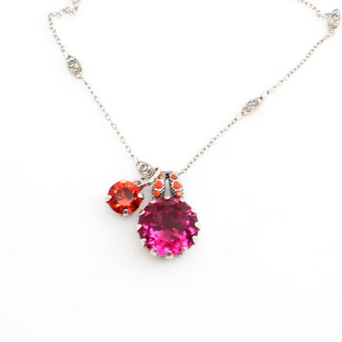 Angelina Crystal Pendant Necklace