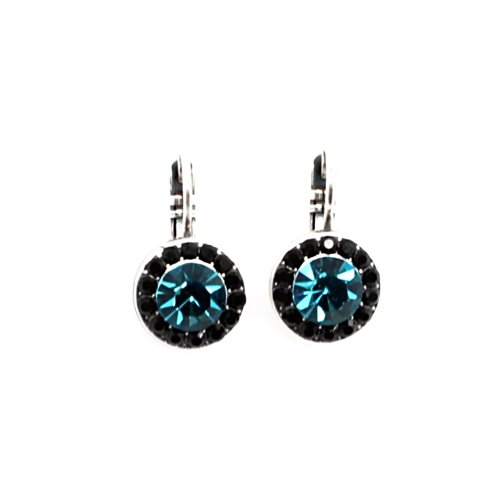 Cannoli Collection Round Crystal Earrings