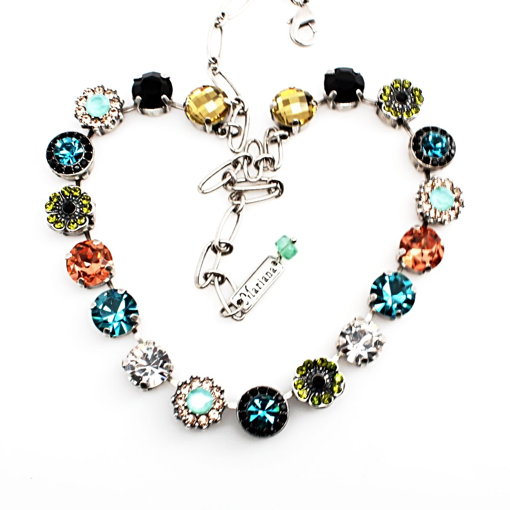 Cannoli Large Crystal Necklace
