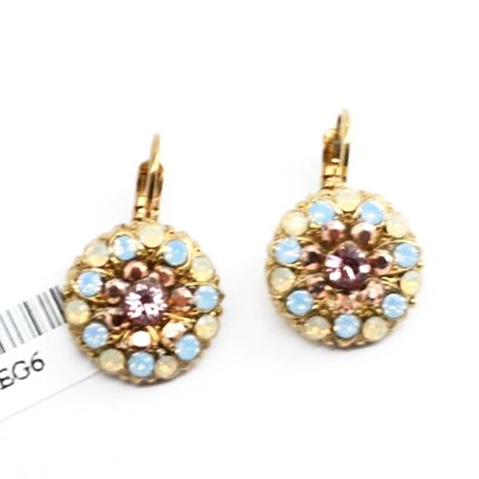 Rhapsode Collection Ornate Crystal Earrings in English Gold