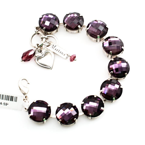 Amethyst Cushion Cut Extra Large Crystal Bracelet