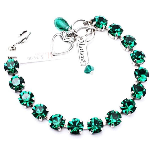 Emerald Green Medium Crystal Bracelet