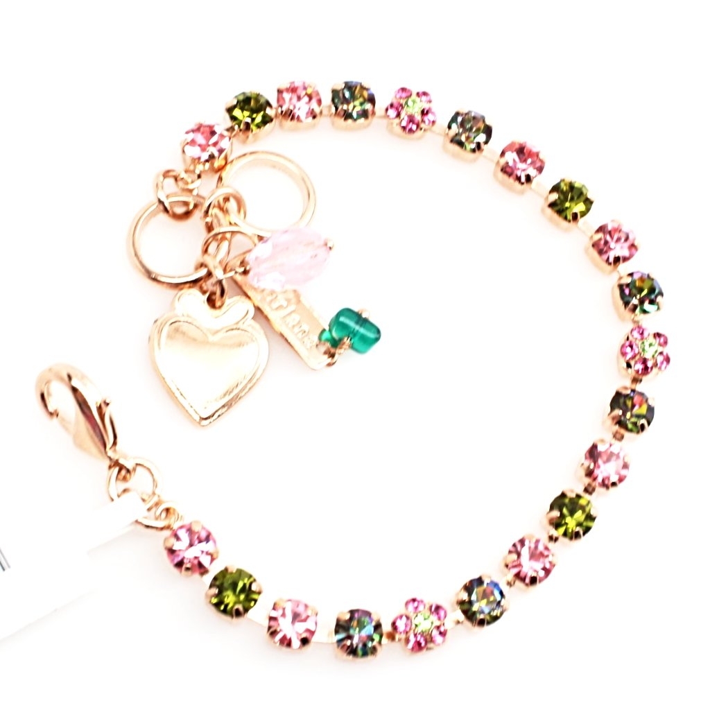 Tutti Frutti Collection Petite Crystal Flower Bracelet in Rose Gold