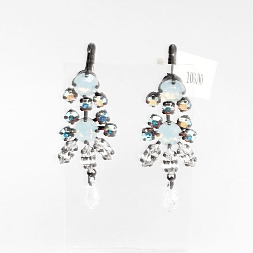Clear Day Crystal Chandelier Earrings in Black Rhodium