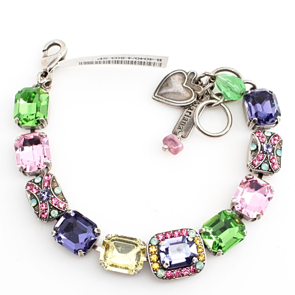 Flower Power Collection Rectangular Crystal Bracelet