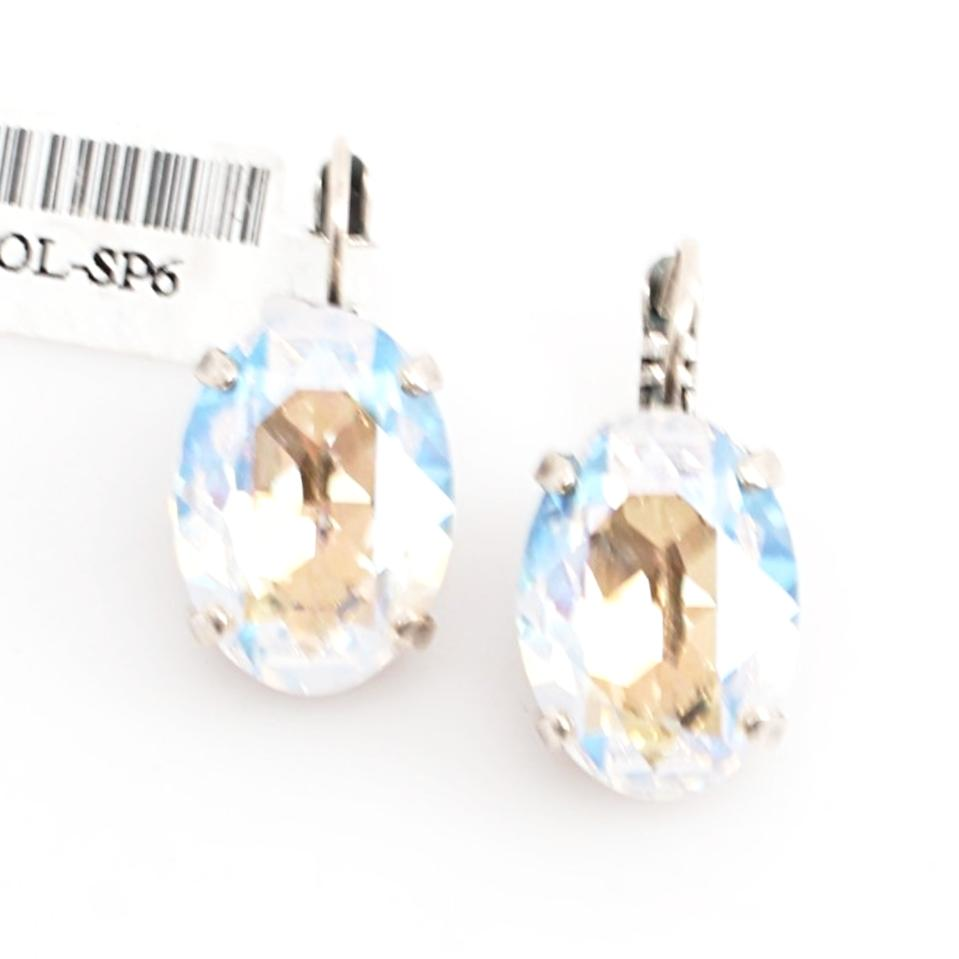 Crystal Moonlight Large Oval Earrings