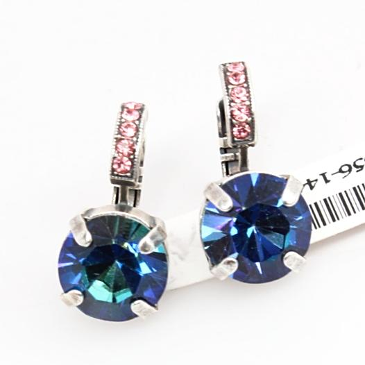 Cotton Candy Crystal Earrings with Embellished Lever