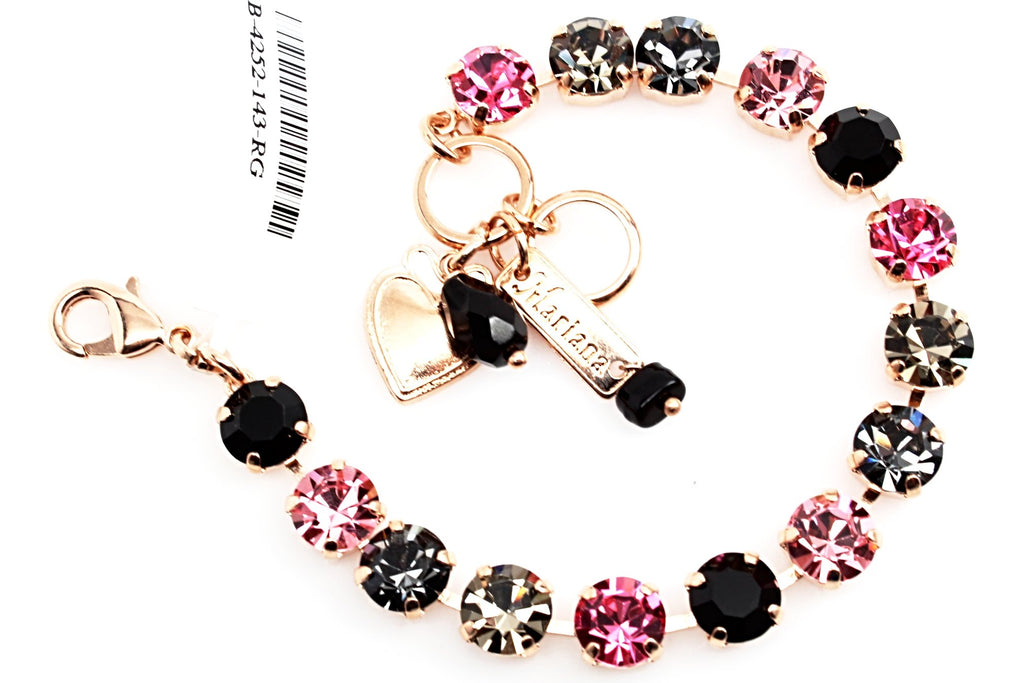 Peppermint Collection Medium Crystal Bracelet in Rose Gold