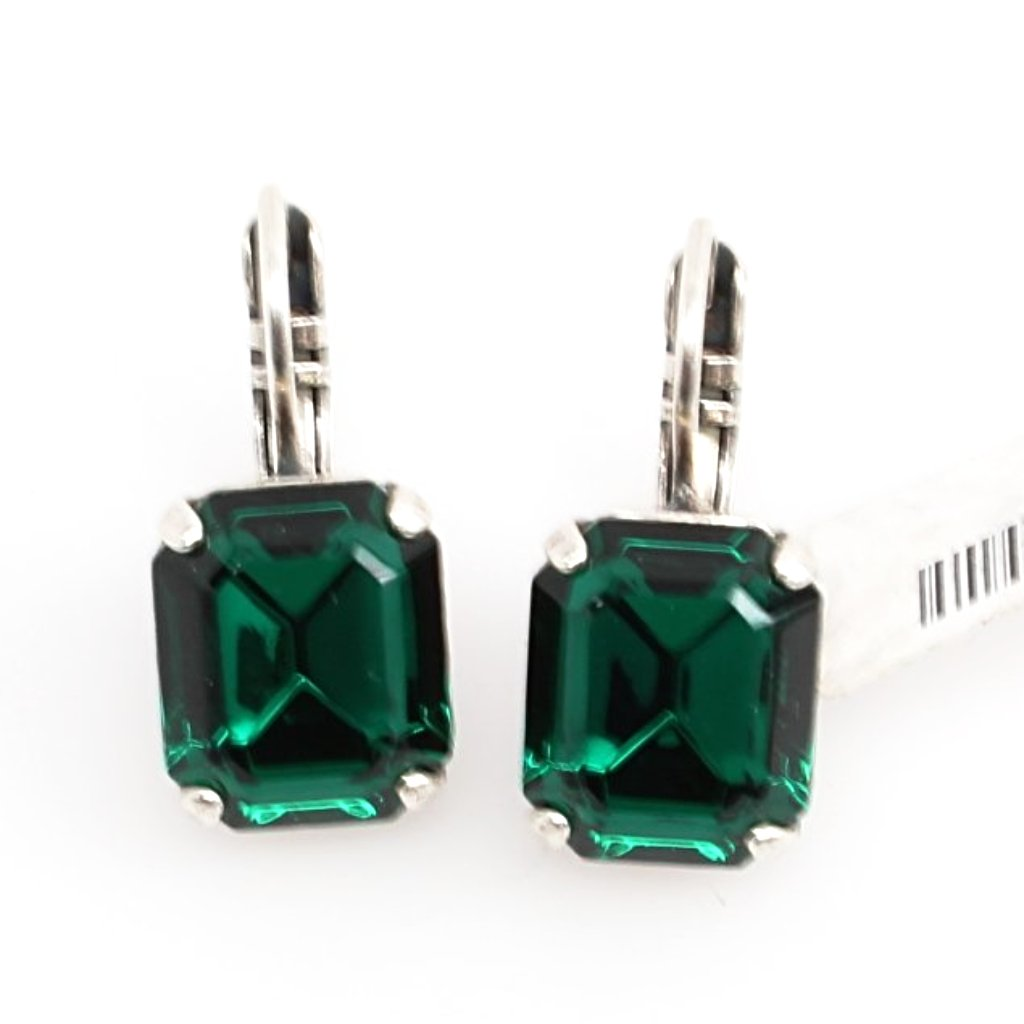 Emerald Rectangular Earrings