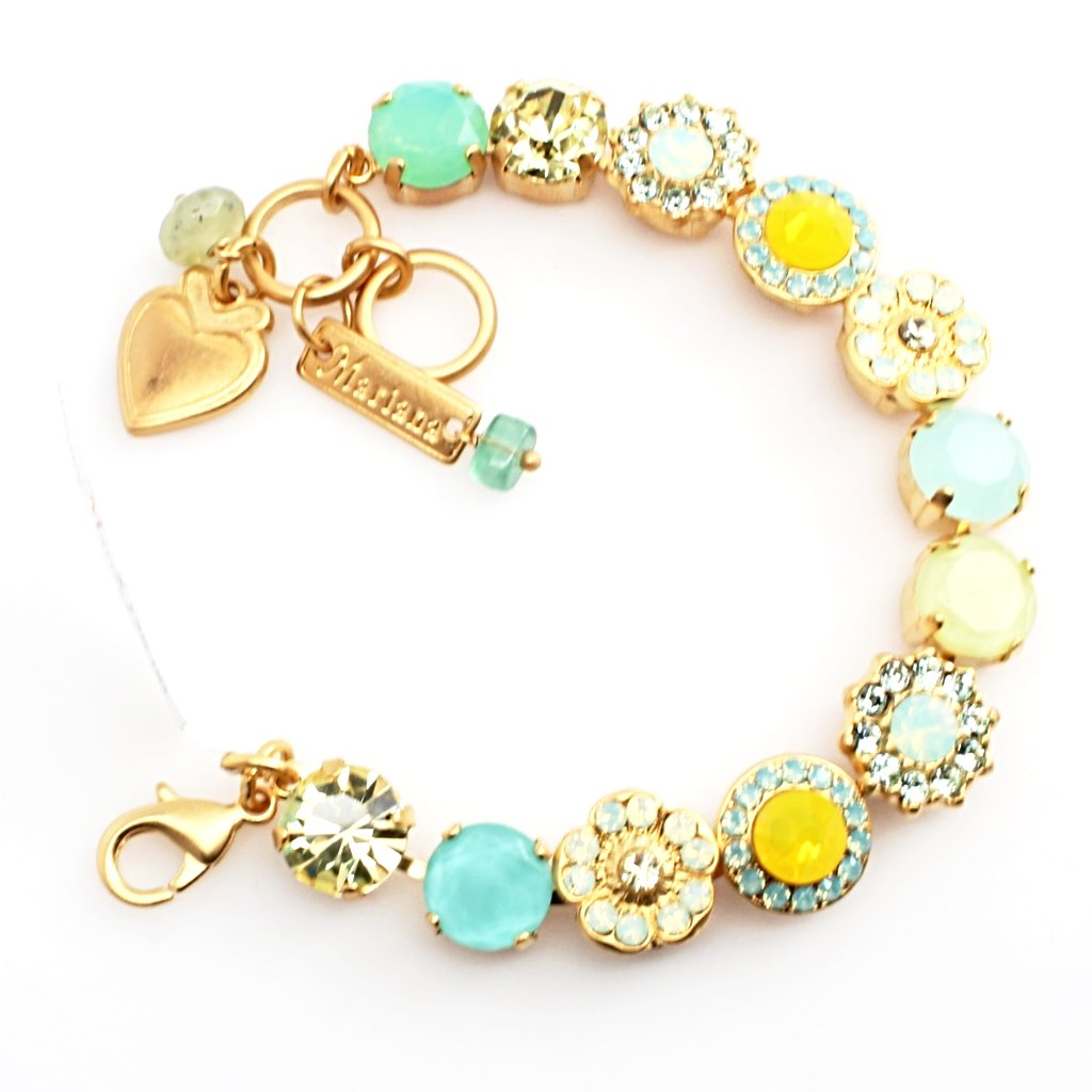 Blondie Collection Large Crystal Bracelet in Yellow Gold