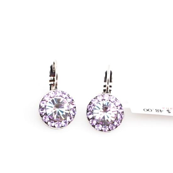 Vitral Light Round Crystal Earrings