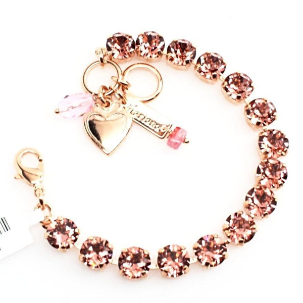 Blush Rose Medium Crystal Bracelet in Rose Gold
