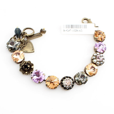 Discover Collection Large Rivoli Crystal Bracelet in Antique Gold