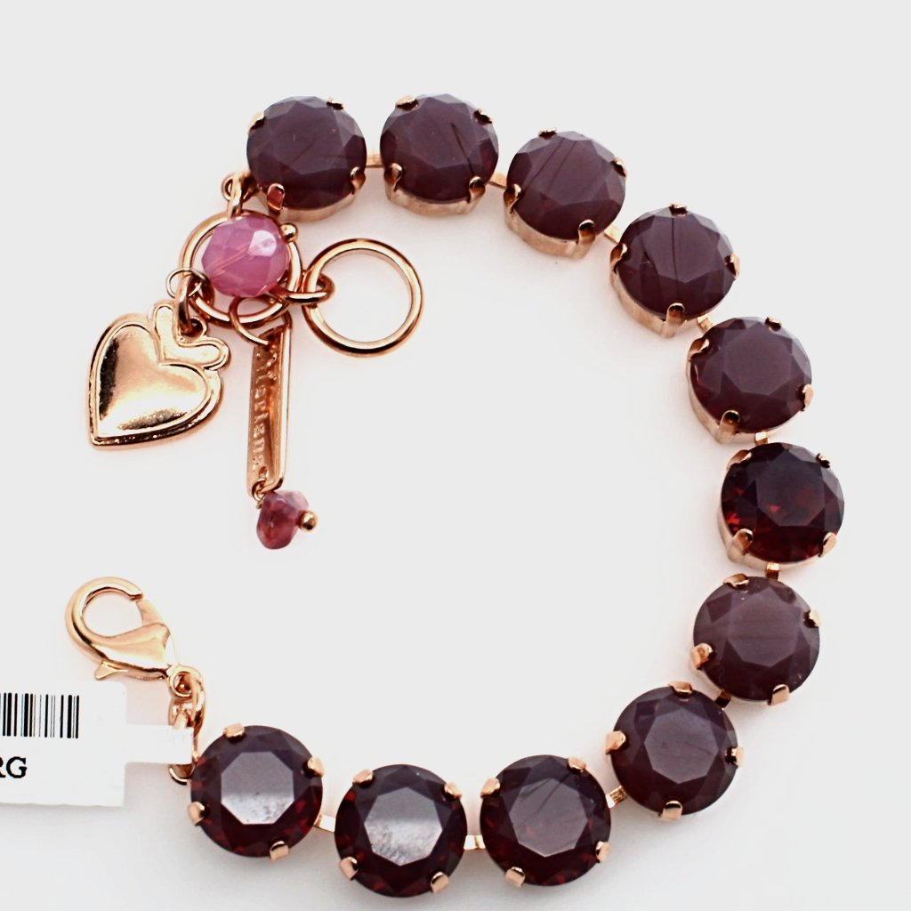 Cyclamen Opal Lovable Crystal Bracelet in Rose Gold