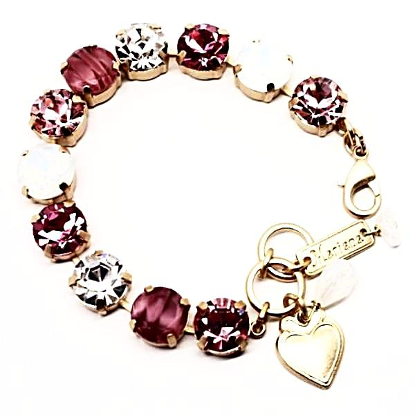 Cherry Blossom Collection Large Crystal Bracelet in Yellow Gold - Mary's Mariana