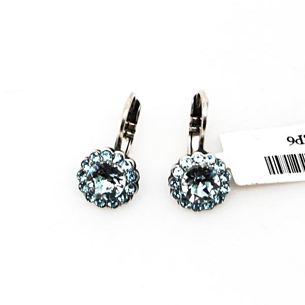 Italian Ice Small Round Crystal Earrings