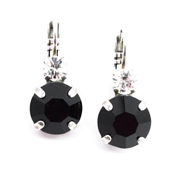Checkmate Large Double Crystal Earrings